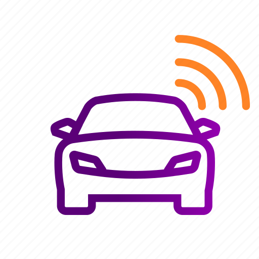 auto, car, connected car, internet of things, iot, smart, vehicle icon