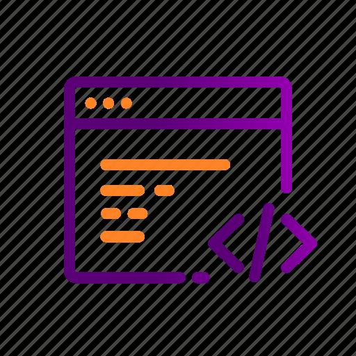 browser, code, coding, development, frontend, programming, website icon