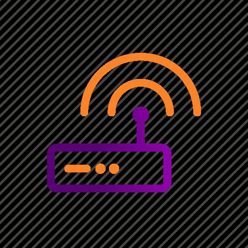 gateway, internet, network, online, router icon