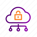 cloud, data, file, safe, security, storage icon