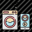 controller, internet, machine, network, smart, washing, wifi icon