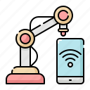 arm, internet, machine, mechanical, network, robot, wifi