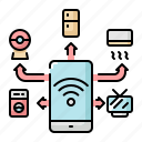 device, home, internet, internet of things, iot, smart, wifi icon