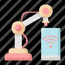 arm, factory, internet, machine, mechanical, robot, wifi icon