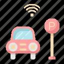 car, internet, network, parking, smart, wifi
