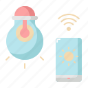 bulb, internet, light, lightbulb, smart, wifi icon