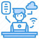administrator, cloud, internet, office, smartphone icon