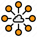 cloud, communication, connection, data, internet icon