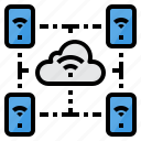 cloud, internet, online, smartphone, wifi icon