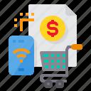 cart, internet, payment, shopping, smartphone