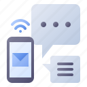 mail, message, email, chat, mobile
