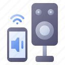 speaker, smart, volume, audio, sound