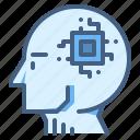 artificial, intelligence, ai, humanoid, robot, brain