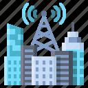 antenna, tower, city, metropolis, smart