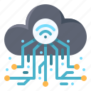cloud, computing, data, server, traffic
