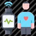 heart, measurement, smartwatch, wave, signal