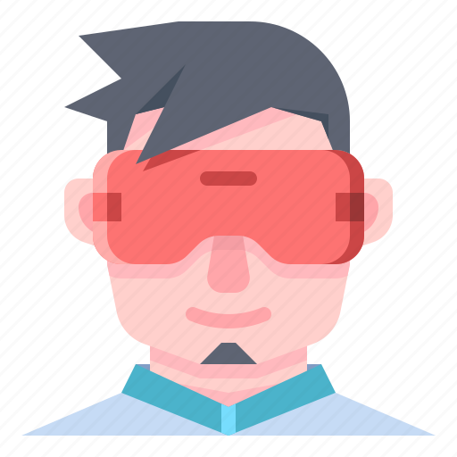 Vr, glasses, virtual, reality, man, wear icon - Download on Iconfinder