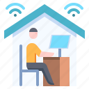 work, from, home, teleworking, remote, office
