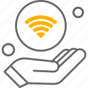 wifi, hand, things, internet