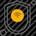 internet, shield, wifi, things