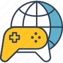 console, games, internet, thinks, world icon
