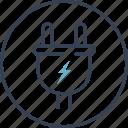 energy, internet, socket, thinks icon