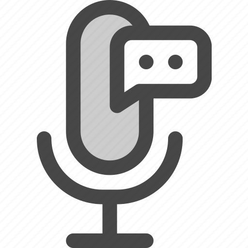 audio, chat, comment, feedback, microphone, podcast icon