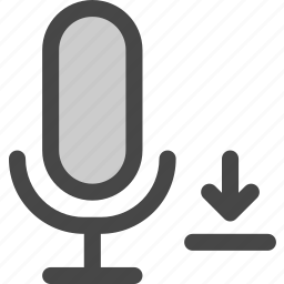 audio, download, file, internet, microphone, podcast icon