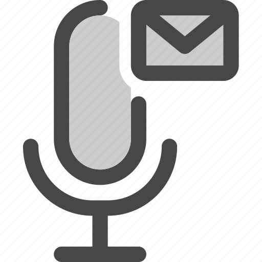 audio, email, letter, message, microphone, podcast icon
