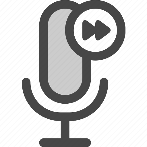 audio, fast, forward, microphone, playback, podcast icon