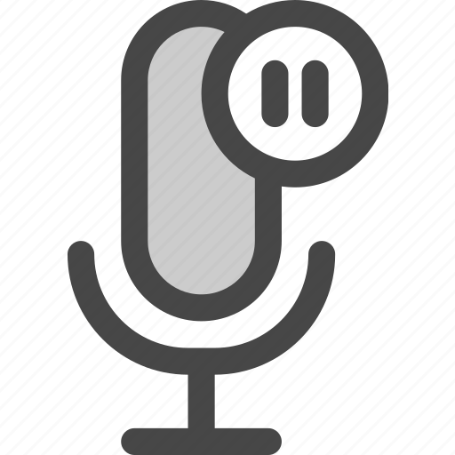 audio, microphone, pause, playback, podcast icon