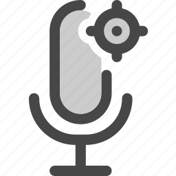 audio, located, map, microphone, podcast, position icon