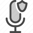 audio, microphone, podcast, protected, secured icon