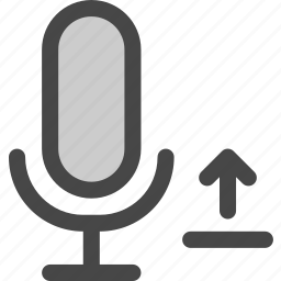 audio, file, microphone, podcast, signal, upload icon