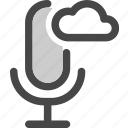 audio, cloud, computing, internet, microphone, podcast, storage icon