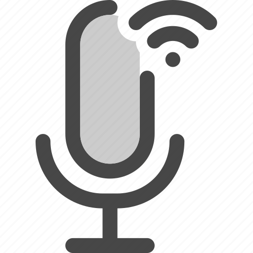 audio, connection, microphone, podcast, signal, wifi icon