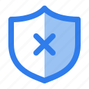 antivirus, cancel, close, internet, protect, security, shield
