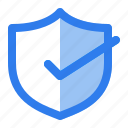 accept, antivirus, check, internet, protect, security, shield icon
