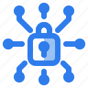 cyber, internet, lock, locked, padlock, protection, security icon