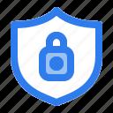 antivirus, internet, lock, locked, protect, security, shield icon