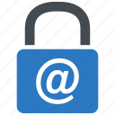 email, security, lock, internet