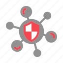 internet, protection, security, shield, virus icon