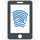 fingerprint, biometric, identification, phone