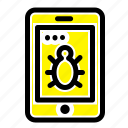 bug, mobile, security icon