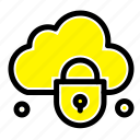 cloud, internet, lock, security icon