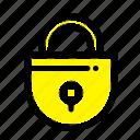 internet, lock, locked, security icon