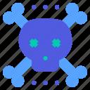 bone, cross, pirate, skull, virus icon