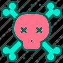 bone, cross, pirate, skull, virus