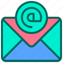 address, communication, email, internet, message icon