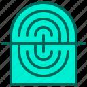 fingerprint, hand, login, scan, security icon